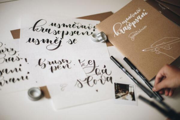 online kurz kaligrafie - krasopsaní