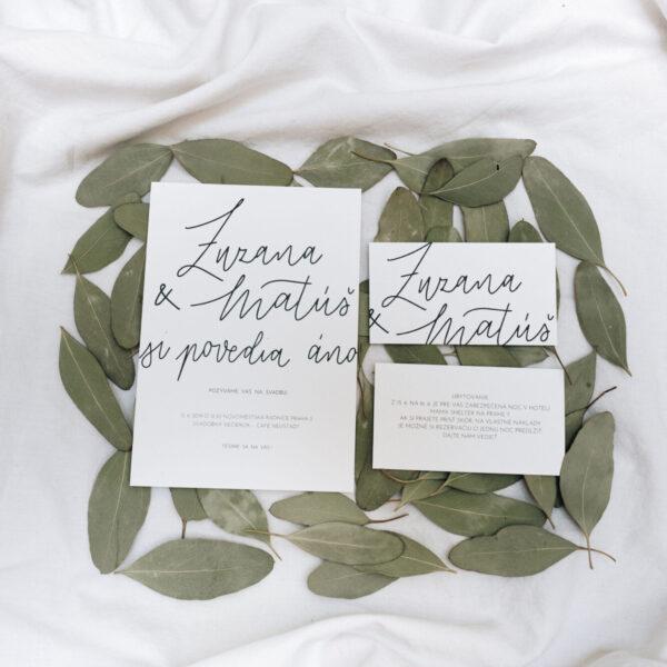 Svatební kaligrafie